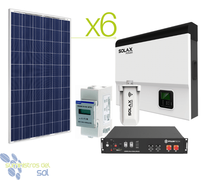 Solax Solar Kit 9700Whday and lithium battery