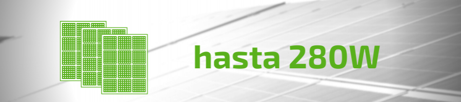 Solar Panels up to 280W
